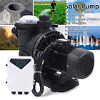 1200W 15 HP Solar Water Swimming Pool Pump DC Off Grid Brushless + Controller