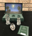 Marquis Waterford Nativity Collection Holy Family set Crystal Creche Figurines