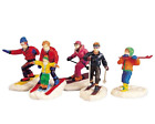 Lemax Village Collection Winter Fun Set Of 5 Skiing #92357