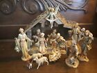 VINTAGE FONTANINI NATIVITY SET ITALY CHRISTMAS FIGURINE DISPLAY RELIGIOUS