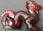 Lalique Red Crystal Small Dragon Signed No Box Nearly Mint