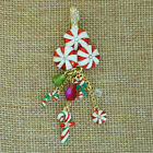 Kirks Folly Christmas Candy Confection Magnetic Enhancer GT w Peppermint Charms