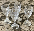Four 4 Mikasa Park Lane Crystal Footed Cordial Liqueur Glasses