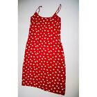 Reformation Mariah Red White Floral Flower Print Pattern Sleeveless Mini Dress M