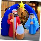 Christmas Inflatables Outdoor Decorations for The Yard Blow Up Nativity Sets St