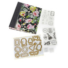 Anna Griffin Treasury Stamps Dies with Binder GRACE BLACK FLORAL NEW 588273