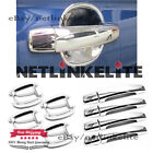 New Chrome Door Handle Covers + Bowls For 2013 2014 2015 Chevrolet Malibu