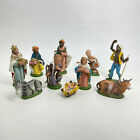 10 Vintage Nativity Figures Made In Italy Mary Joseph Baby Kings All Numbered 6