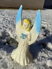 Union Products Angel With Blue Wings Blow Mold Christmas Nativity 18 No Lights