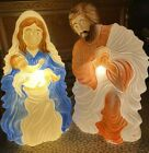 Christmas Lighted Blow Mold Nativity Set Jesus Joseph Mary Grand Venture Outdoor