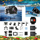 Dragon Touch Vision 3 Action Camera W/ Helmet Accessories Kit Outdoor Xmas Gift accessories action camera dragon helmet kit outdoor touch vision xmas
