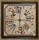 Native American Whirling Joy Ceremony by Foster Framed Sand Art Signed 14