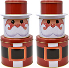 Gift Boutique Christmas Santa Cookie Tins Round Nesting Boxes With Metal Lid Cov