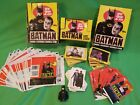 LOT, NEAR MINT 1989 TOPPS BATMAN CARD BOX W 34 PACKS, STICKERS, CANDY, WRAPPERS