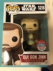 Funko Pop Star Wars Qui Gon Jinn 128 NYCC Exclusive LE 2000 Official Sticker