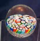 Vintage Millefiori Glass Paperweight Round Large Size Multi Color