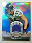 2010 Bowman Sterling Relics Blue Refractor 10 99 Todd Heap #BSR-THE