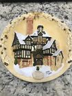 1994 David Winter Cottages  The Scrooge Family Home Christmas Plaque [Exc. Cond]