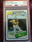Rickey Henderson Cards, Rookie Card and Autographed Memorabilia Guide 20