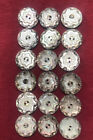 SET of 12 FAB ANTIQUE VINTAGE HAND CARVED ABALONE  MOP SHELL BUTTONS 5 8