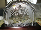 NEW RETIRED WATERFORD CRYSTAL NATIVITY CRECHE  Wooden Plith