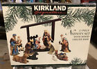 Kirkland Signature 13 Pc Hand Painted Porcelain Nativity Set 75177 NO CRCHE