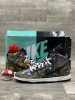 Nike Dunk High Premium SB Stained Glass Black White Red Blue Size 11 313171 606