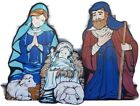 Vintage 3 Piece Life Size Nativity Holy Family Set True To Nature Lawn Christmas