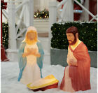 New 285 Lighted Blow Mold Outdoor Indoor Nativity Set Christmas Holiday Time
