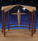 CC Christmas Decor 40 Metal Christmas Display Nativity Creche with Star