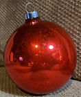 1950s Vintage Shiny Brite Glass Ornament Red Ball Xlarge 6