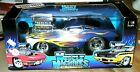 MUSCLE MACHINES 1966 FORD MUSTANG BLUE WITH FLAMES 1 18 DIE CAST HTF NEW IN BOX