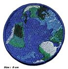 BLUE EARTH WORLD PLANT PATCH EMBROIDERED IRON OR SEW ON APPLIQUE BADGE LOGO
