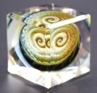 CAPTIVATING Unique SMO CUBE Squarble Art Glass SCULPTURE Paperweight