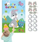 VEYLIN Pin the Tail on the Bunny Fun Family Party Game for Kids Children Ea