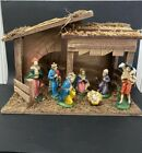 Vintage Sears Roebucks Nativity Scene Manger 7 Figures Made in Italy