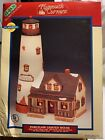 1997 Lemax Plymouth Corners Christmas Village Old Cliff Lighthouse Lighted House