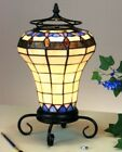 NEW Handcrafted Stained Glass Tiffany Style Accent Lamp 14H x 8W 1406