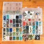 Huge Gemstone Beads Charms Jewelry Making Craft Lot in 3 Organizers SOME NEW