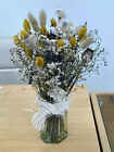 Dried Flower Arrangement Lavender Bunny Tails Daisy Papaver Glass Vase