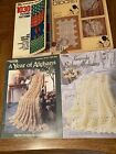 1030 Stitches Patterns Knitting  Crochet Book + A Year of Afghans + Baby Afghan