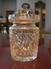 Waterford Crystal Glass Small Lidded Storage Jar Condiment Dish