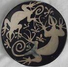 large southwest pottery shallow bowl with geckos