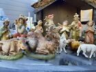 Vintage Nativity w Baby Jesus Marked Italy Preowned Used