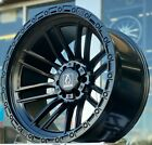 4 New 22x12 AXE ICARUS 44 Black 6x55 6x135 6x1397 Chevy Ford GMC