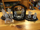 VINTAGE RARE PRINCESS HOUSE 13 PC NATIVITY SET LEAD CRYSTAL W WOODEN CRCHE