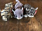 Ty Beanie Babies Striper Sneaky Canyon With Tags Lot Of 3