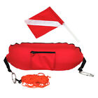 Nylon Torpedo Float Buoy with Flag for Spearfishing Diving Snorkeling Scuba Sign