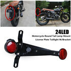 LED Motorcycle Brake Light Tail Lamp Mount License Plate Taillight With Bracket