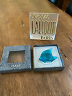 Lalique Crystal France Angel Fish Poisson Turquoise Blue 3002500 w box